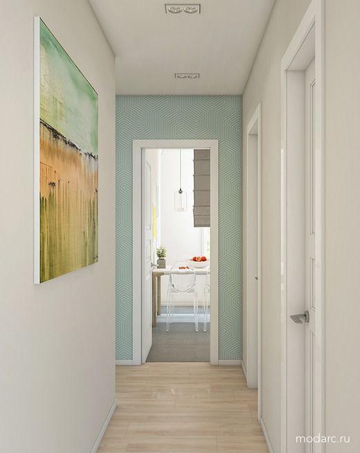 """2-комнатная квартира для молодой девушки в ЖК """"Стерхи"""" в Новом Уренгое. Коридор; Холл"""