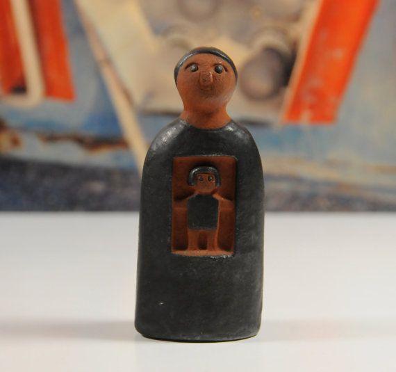 Rare Thyssen Keramik Mother & Child by CumulonimbusVintage on Etsy