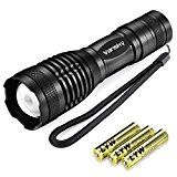 Vansky® 700 Lumen Cree Led Torch Pocket Torch Adjustable Focus LED Light Zoomable led flashlight Water Resistant Camping Torch, 3 x AAA Batteries Included by Vansky  (905)Buy new:  £39.99  £8.99 3 used & new from £8.54(Visit the Bestsellers in Home & Garden list for authoritative information on this product's current rank.) Amazon.co.uk: Bestsellers in Home & Garden...