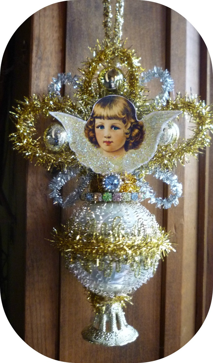 Victorian Scrap Angel Christmas Ornament - Vintage Inspired. $16.00, via Etsy.