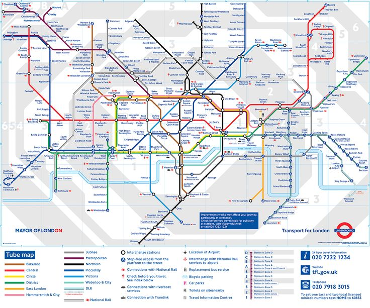 London Underground Stations in London, Greater London