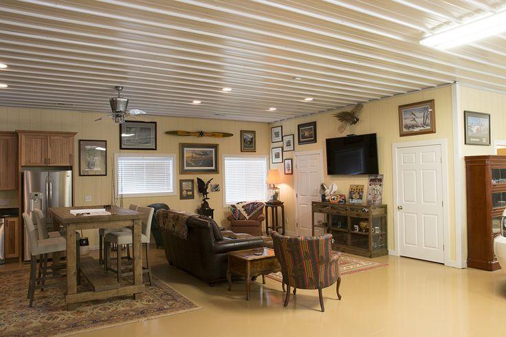 Morton buildings hobby garage interior in greensboro for Garage builders atlanta