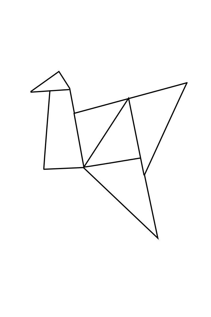geometric geometrique female bird oiseau femelle