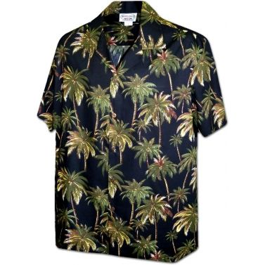 chemise hawaienne ...Cocotiers in the night