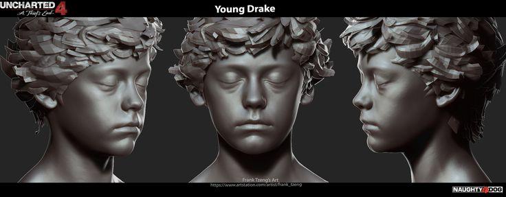 ArtStation - Uncharted 4 - Young Drake, Frank Tzeng