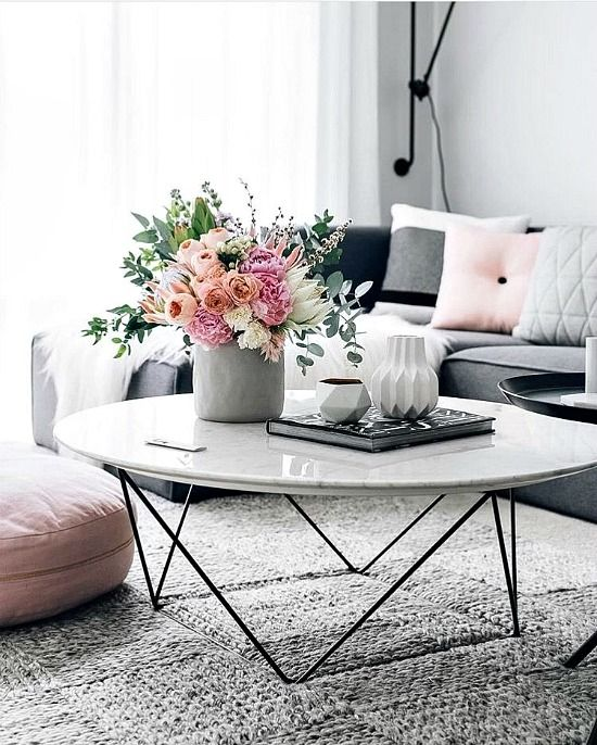Como Marble Coffee Table: Best 25+ Pink Living Rooms Ideas On Pinterest