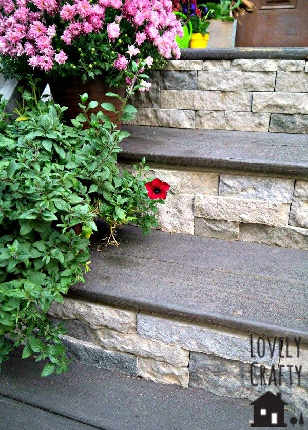 Airstone Porch Stairs (and a bit of Fall)