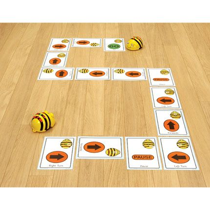 Bee-Bot Giant Sequencing Cards: Help pupils to organise the route sequence! The bold and colourful layout makes these cards perfect for front of class work. Durable, laminated A5 sequence cards, ideal for assisting in program planning and recording. : Pack of 49 cards