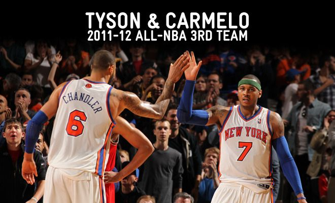 All-NBA 3rd Team: Chandler & Anthony2011 12 All Nba, Knicks, 3Rd Team, Nba Reading Full, All Nba 3Rd, Carmelo Anthony, Chandler, Ball Nyk, Baskets Ball