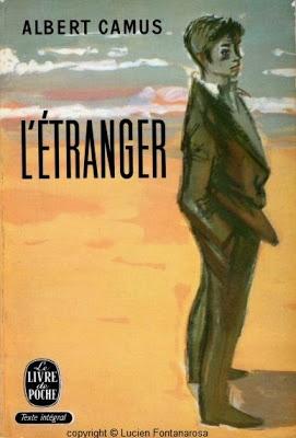 Lucien Fontanarosa (1912-1975) illustration de la couverture de L'Étranger, d'Albert Camus, Livre de Poche (1959)