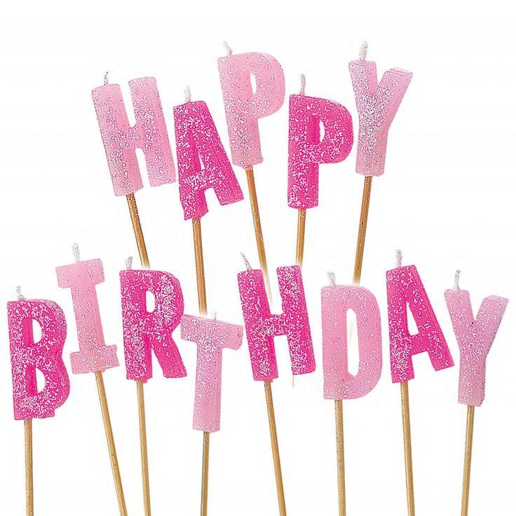 15 best lista de deseos images on pinterest birthday wishlist 13 pink glitz happy birthday glitter pick candles fandeluxe Gallery