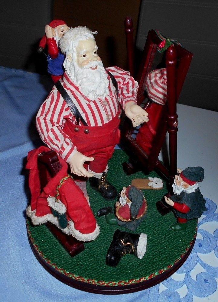 Weihnachtsdeko Tischdeko Nikolaus und Wichtel auf Holzteller