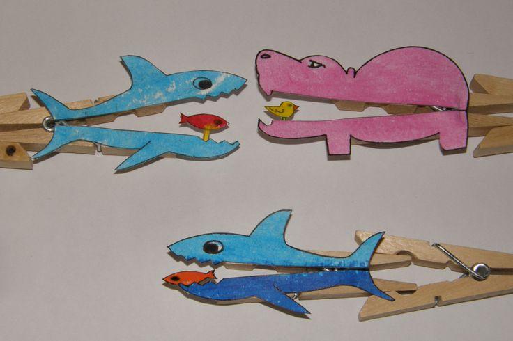 pinzas animales comiendo