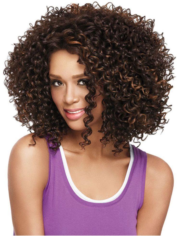FESHFEN Women Wigs Afro Curly Hair Wigs Deep Wave Dark