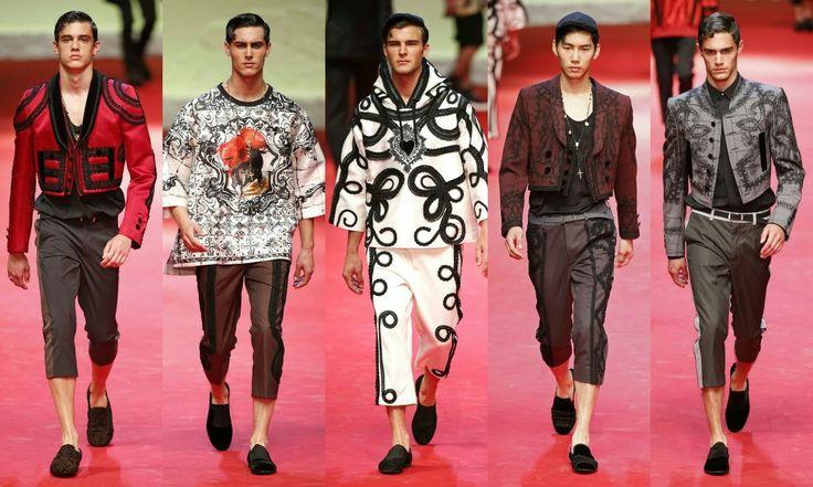 Dolce&Gabbana  #Fashion #moda #men #hombre  http://cuchurutu.blogspot.com.es/2014/06/la-semana-de-la-moda-masculina-en-milan.html