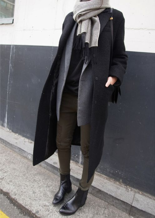 I love a gorgeous layered look. Especially when it's chocked full of neutrals and a big coat!