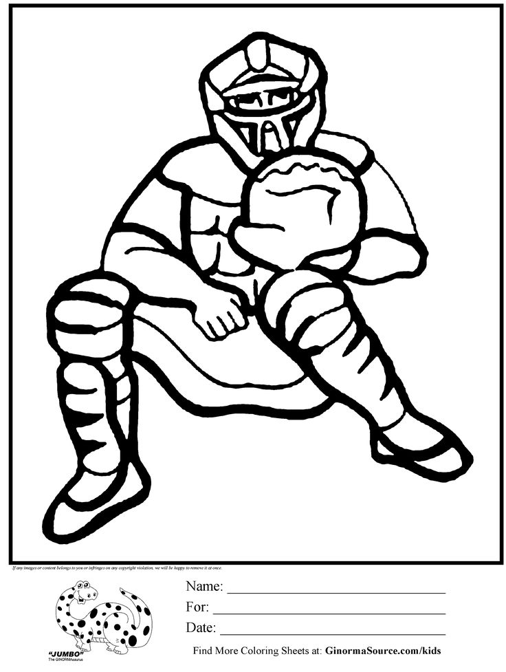 baseball coloring pages for kids - photo#27