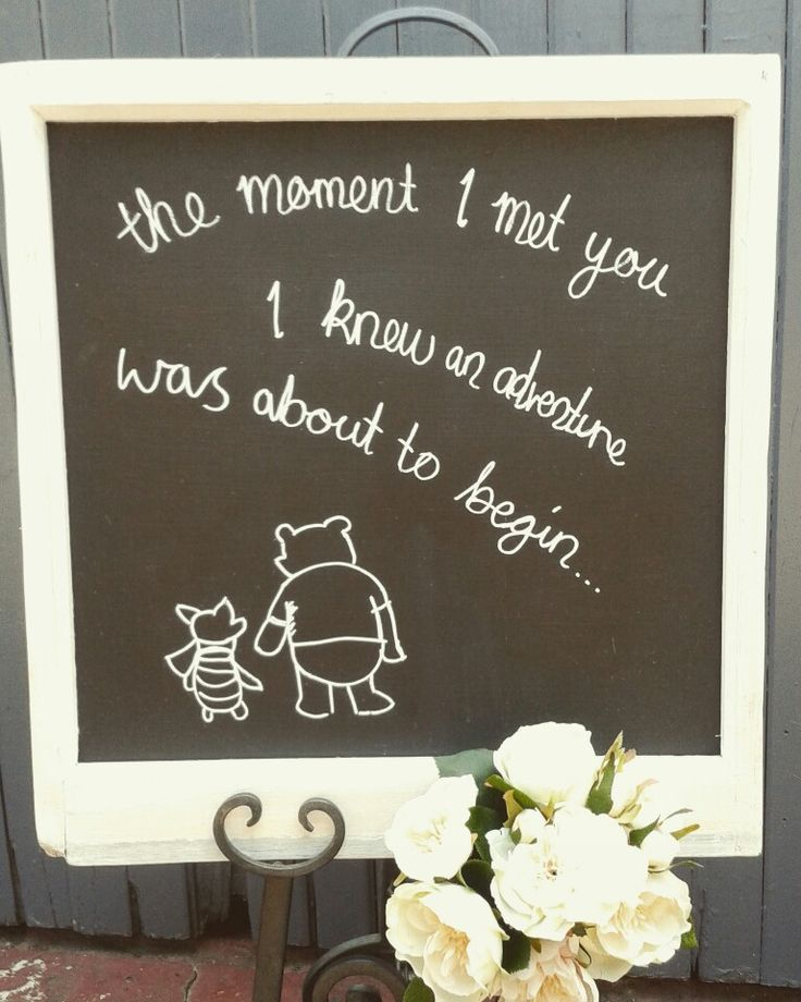 Winnie the pooh quote for wedding.