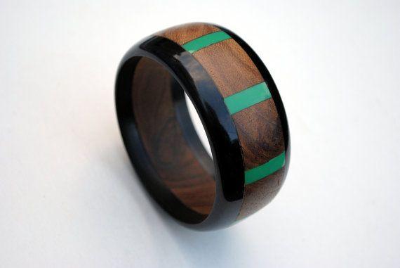 Vintage Wood Bangle Vintage Wood and Plastic by SoulSisters16
