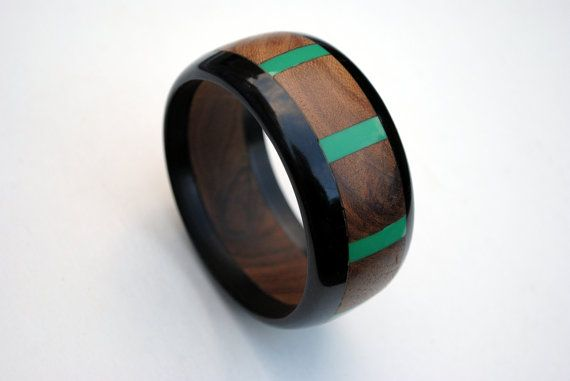 Vintage Wood Bangle Vintage Wood and Plastic by SoulSisters16