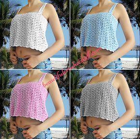 Crochet Crop Top Free Pattern | Beautiful Crochet Stuff