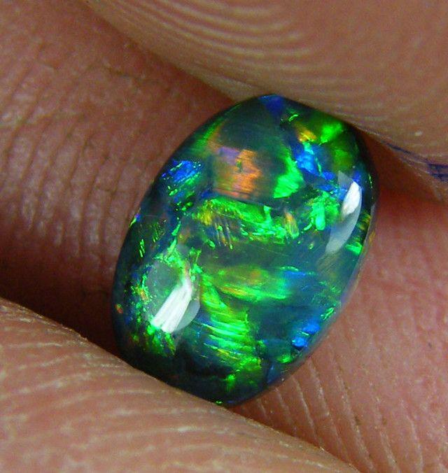 LOVELY LIGHTNING RIDGE BLACK OPAL.80 CTS   (x6)  black opal , lightning ridge opal , australian opal , opals,gem opal , fire opals