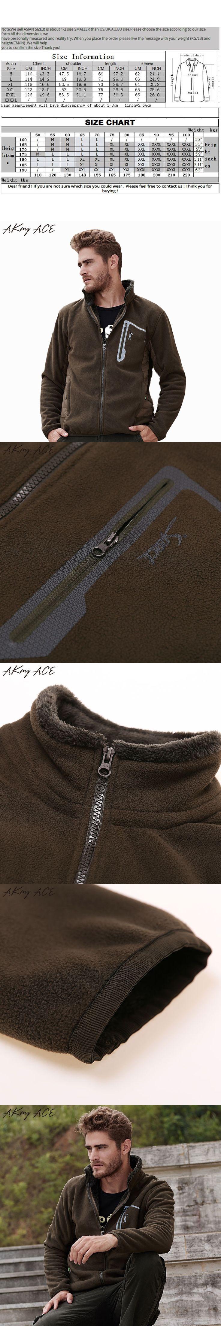 2017 AKing ACE Men Winter Fleece Cardigan Hoodies Man Casual Thermal Fleece Pocket Hoodie Jacket Warm Outwear Clothing ZA319 45