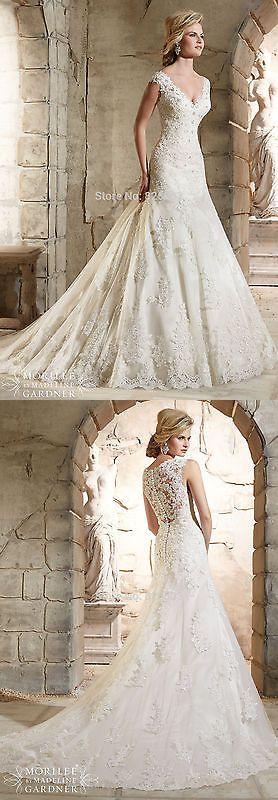 Wedding Dresses: New Mermaid Lace White Ivory Wedding Dresses Bridal Custom Size 6 8 10 12 14 16+ -> BUY IT NOW ONLY: $125 on eBay!