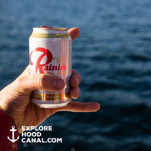 Only thing missing is a #wildsideWA koozie! First 10 people to repin this photo will get their own. Go!   #explorehoodcanal #hoodcanal @rainier_beer