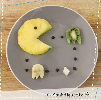 Pacman : ananas, kiwi, banane, noix de coco et ... pépites de chocolat