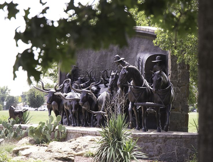 On the Chisholm Trail Monument at the Chisholm Trail Heritage Center, Duncan, OK.