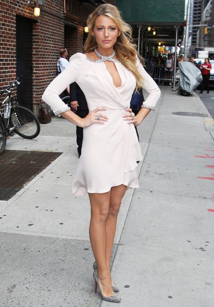 Blake Lively   The Late Show With David Letterman - Arrivals   Photo Credit: Stefan Jeremiah/WENN