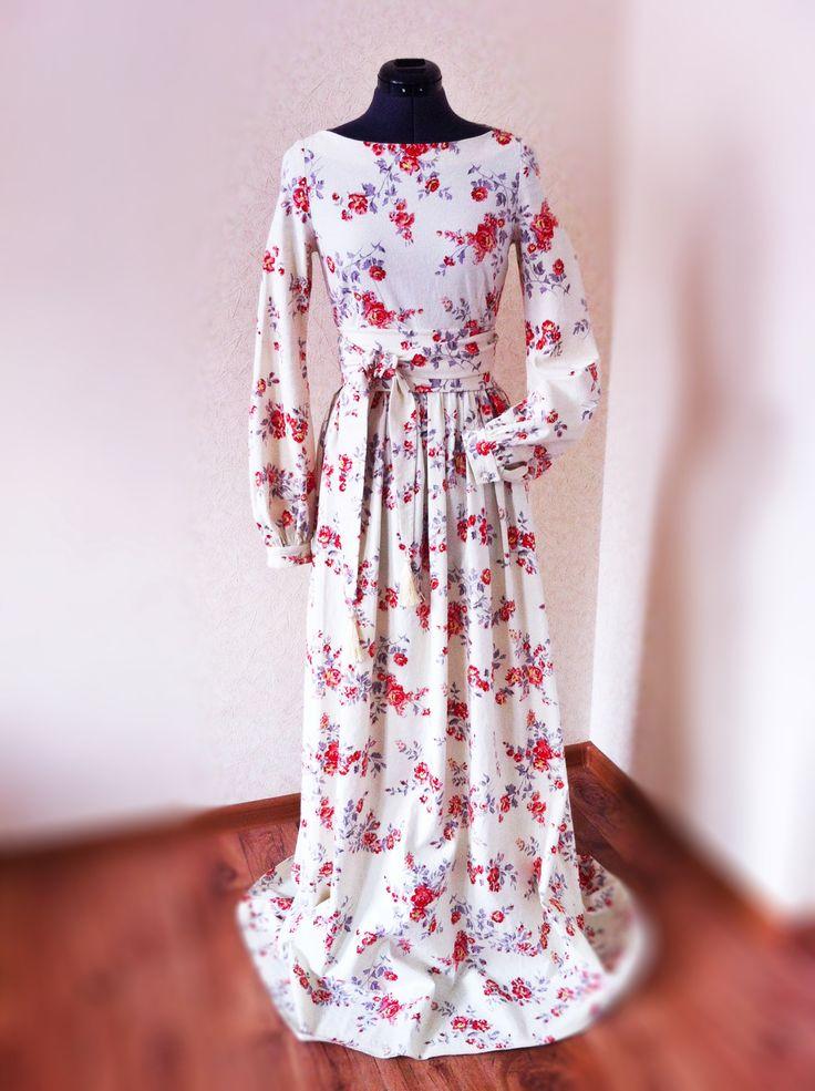 Длинное платье с кистями / Фотофорум / Burda Style