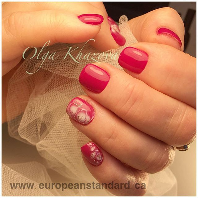shortnails efilemanicure nailsformymom drymanicure shortrednails manicureclasses gelnaileducation gelpolishmanicure