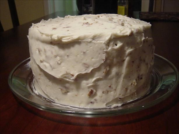 Banana Nut Cake With Cream Cheese Frosting (Paula Deen) from Food.com: This was the wedding cake Paula Deen used for her wedding. This recipe is not formulated for a wedding cake, but for a normal size everyone can use. Increase as needed if you are making tiered or extra large cakes.
