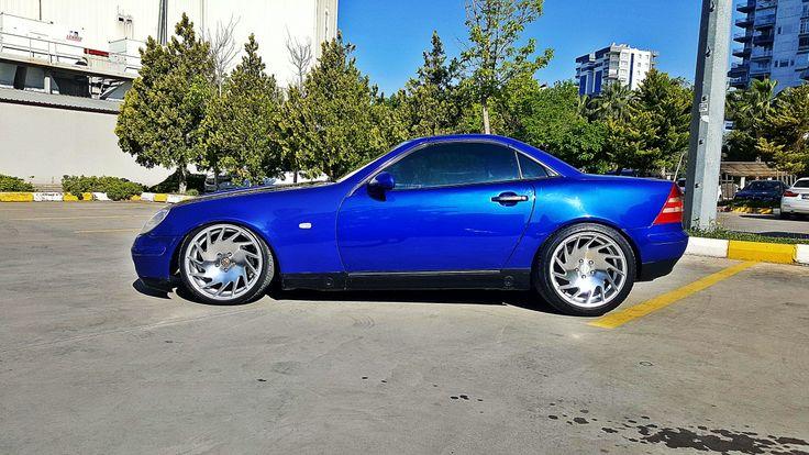 Mercedes benz slk 230 kompressor  cabrio vossen vle1 low r170 blue turkey