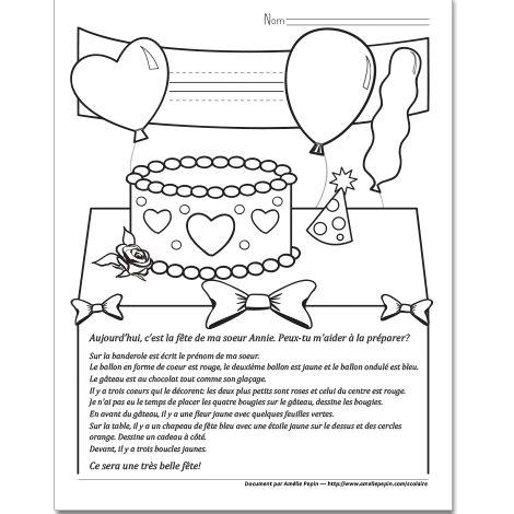 Fichier PDF téléchargeable En noir et blanc 1 page Les jeunes doivent décorer la pièce en suivant les directives. Cet exercice vise plus particulièrement les élèves de 2e année.