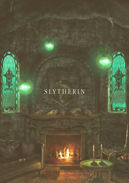 Slytherin common room gave me inspiration for the devils living room as it would be unusual. I would use a frenzy spotlight with a green gel cover to add a strange mysterious edgy atmosphere