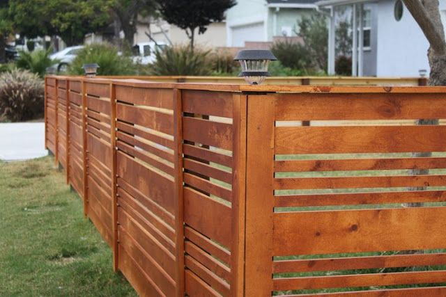 Horizontal Fence. Love this fence!