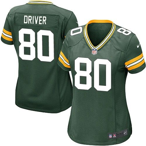 Women Nike Green Bay Packers Donald Driver 80 Green NFL Jersey for Sale Sale