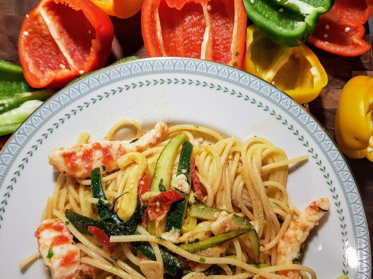 Vegan Prawn Spaghetti #veganrecipes #vegan #vegetarian #recipes #recipe #MeatlessMonday #whatveganseat #veganbooks #glutenfree #rawvegan #RAW