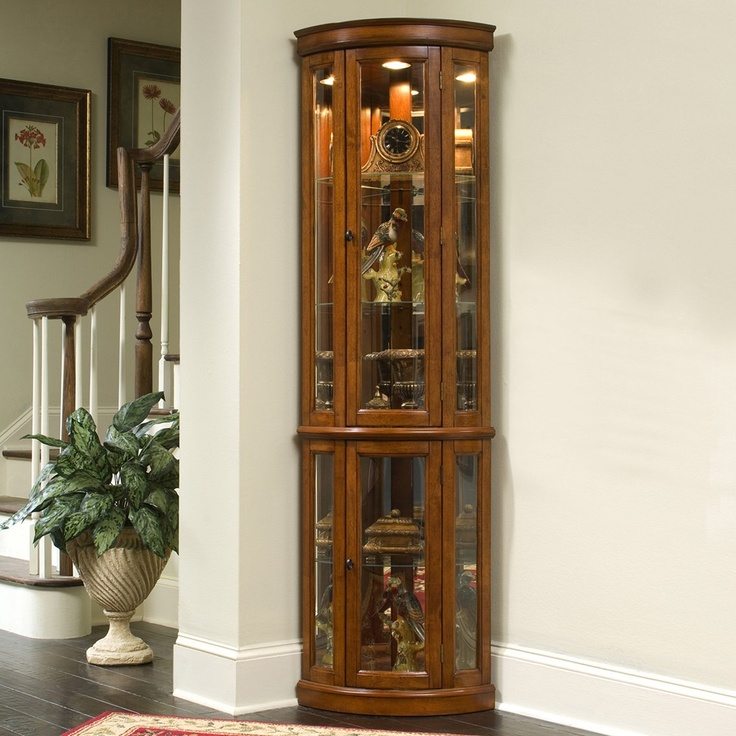 Foyer Corner Cabinet : Pulaski furniture corner curio edwardian ii home
