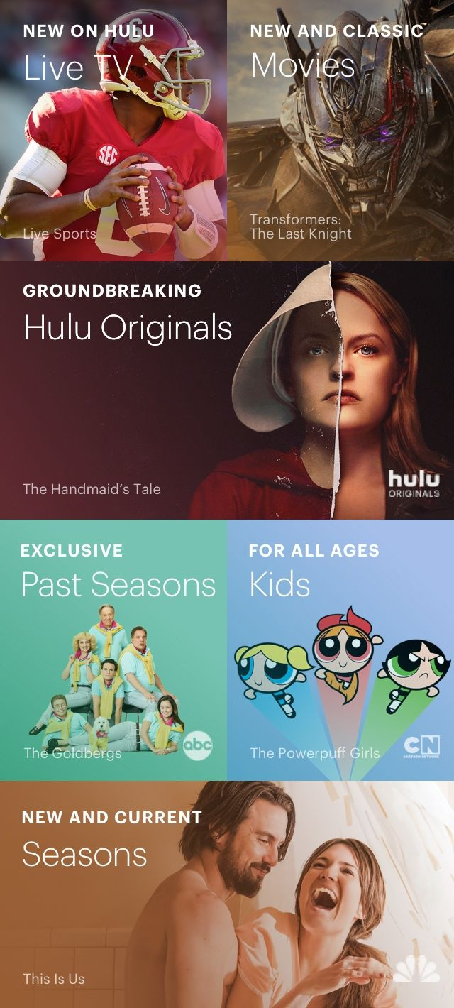 Hulu Live TV, The Handmaid's Tale, This Is Us, The Goldbergs