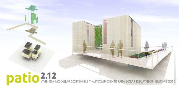 """""""PATIO 2.12"""" Autores:  Javier Terrados Cepeda, Elisa Valero Ramos, Alberto García Marín, Jorge Aguilera Tejero y el equipo de diseño de Andalucía Team"""