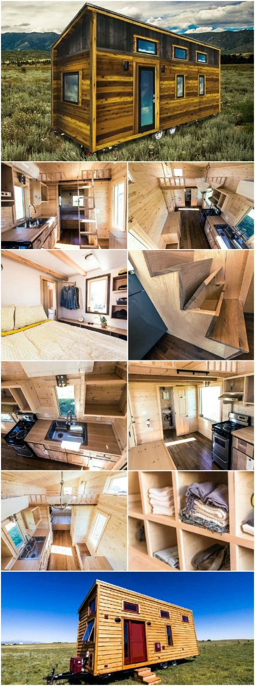 The Roanoke From Tumbleweed Tiny Houses is a Rustic Dream Home - The Roanoke from Tumbleweed Houses is an amazing tiny house that sports a number of features, including 10 foot ceilings. If you're looking for a modernized home that includes all the amenities you need, and wonderfully high ceilings, this is an excellent choice.