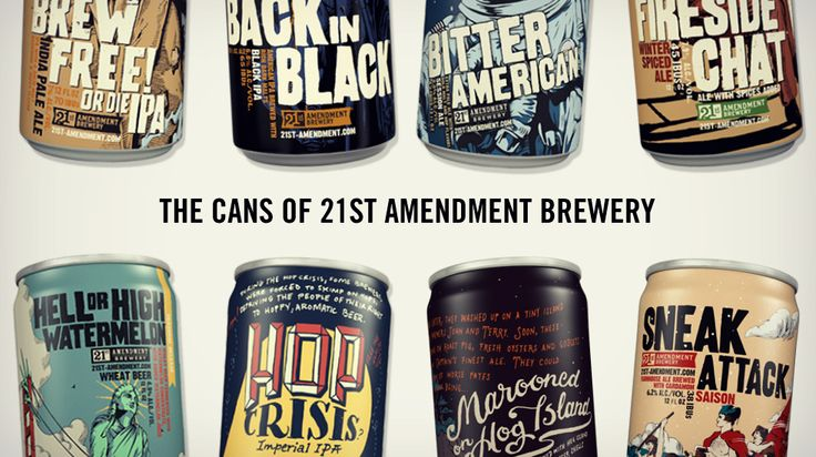 The Cans of 21st Amendment Brewery Artwork | Cool Material