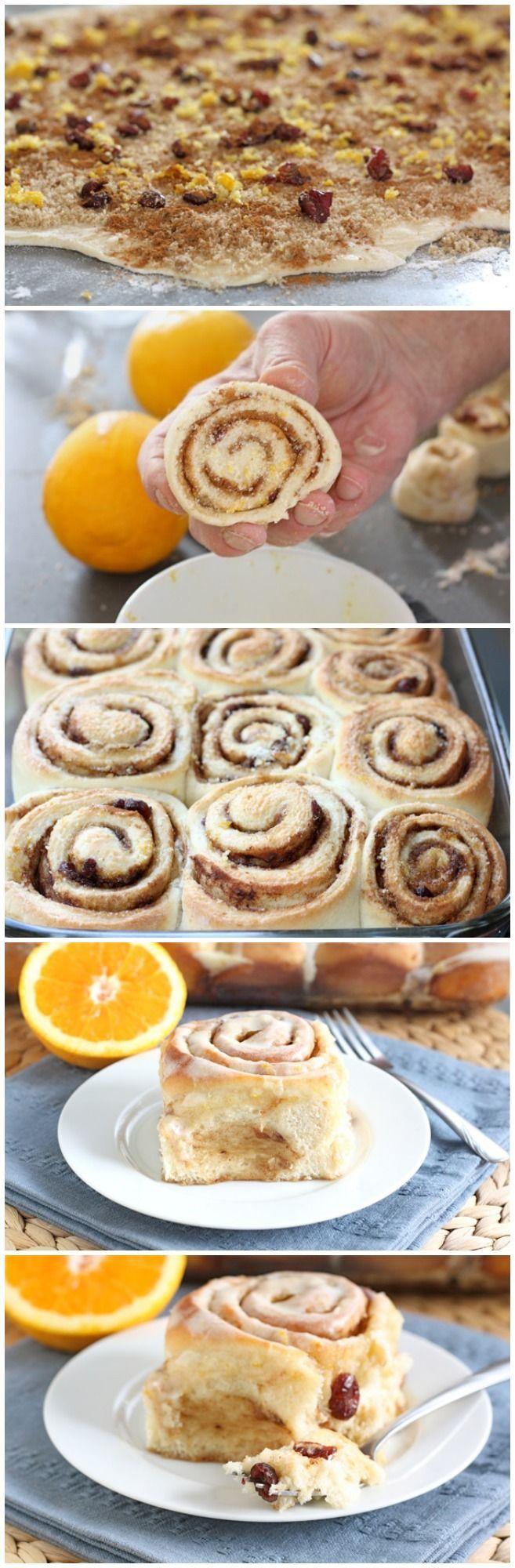 Cranberry Orange Cinnamon Rolls Recipe on twopeasandtheirpod.com Perfect for Christmas morning or gift giving!