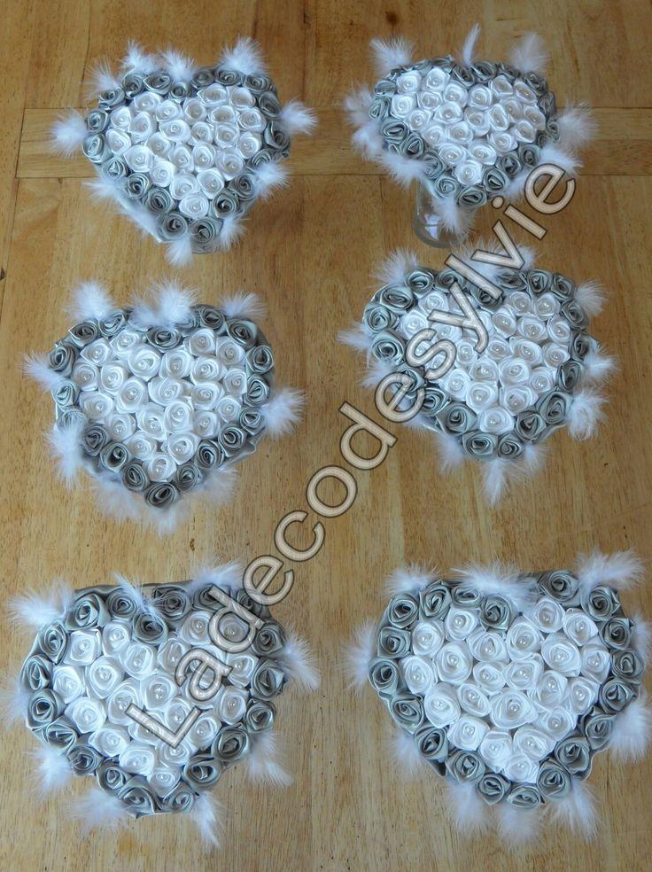Bouquets coeur en satin #Mariage