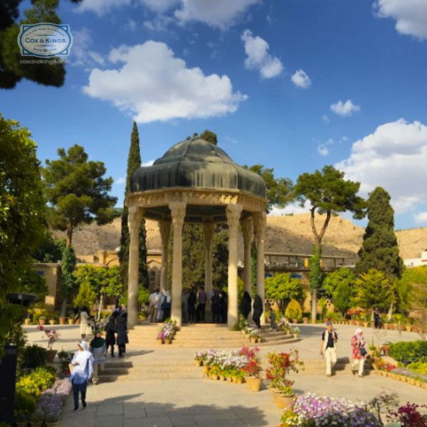 Lush gardens, tranquil pools and a tea house make Sufi saint Hafez's mausoleum a prominent Iranian landmark. #ExploreFourCorners