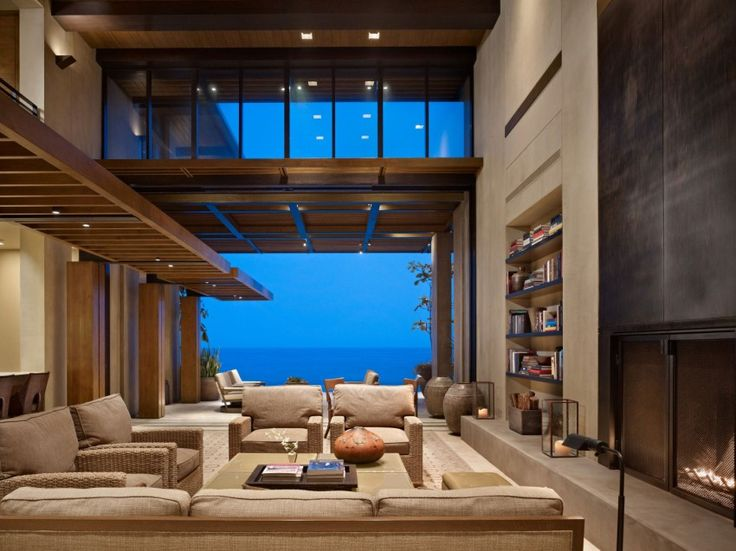 Mexico Residence by Olson Kundig Architects (15) double height ceiling for the lounge room